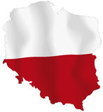 Poland flag. Vector illustration of a map and flag from Poland Royalty Free Stock Photography