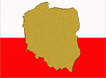 Poland flag Stock Photo