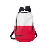 Poland flag backpack isolated on white Stock Photo