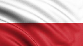 Poland flag blowing in the wind. Background texture. 3d rendering, wave. Warsaw - Illustration vector illustration