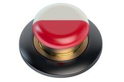 Poland flag button Royalty Free Stock Photo