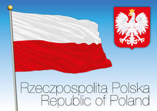 Poland, flag and coat of arms Royalty Free Stock Photo
