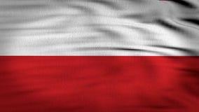 Poland flag 3d rendered royalty free illustration