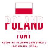 Poland Flag Font Stock Images