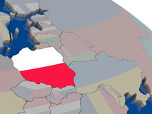 Poland with flag Stock Photos