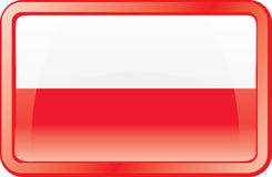 Poland Flag Icon Stock Photos