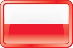 Poland Flag Icon Stock Photos