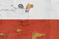 Poland flag painted on a weathered concrete wall Royalty Free Stock Photos