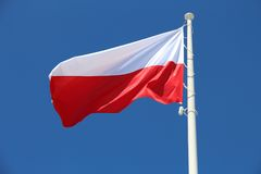 Poland flag Royalty Free Stock Images