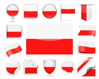 Poland Flag Vector Set Royalty Free Stock Photography