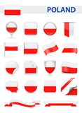 Poland Flag Vector Set Royalty Free Stock Images
