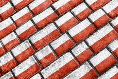 Poland Flag Urban Grunge Pattern. Urban grunge style poland national flag motif pattern royalty free illustration