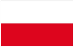 Poland flag. Vector file of Poland flag Stock Image