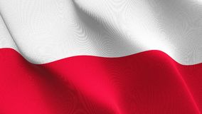 Poland flag waving on wind. royalty free stock image