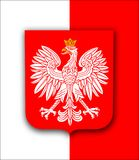 Poland flag with eagle Royalty Free Stock Photography
