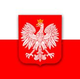 Poland flag with eagle Stock Photos