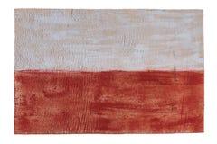 Poland flag on wood background. Grunge wall Royalty Free Stock Images