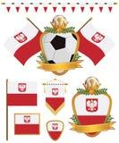 Poland flags vector illustration