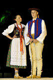 Poland folk dance team Stock Photography