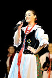 Poland folk dance team Stock Image