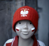 Poland football hat Royalty Free Stock Images
