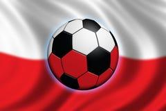 poland fotboll stock illustrationer