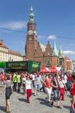 poland för euro 2012 wroclaw Arkivbild