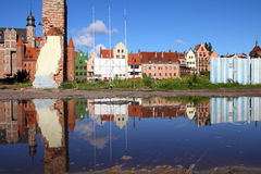 Poland - Gdansk. City (also know nas Danzig) in Pomerania region. Old town reflection Stock Image