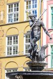 Poland - Gdansk city (also know nas Danzig) in Pomerania region. Famous Neptune fountain at Dlugi Targ square. Poland - Gdansk city (also know nas Danzig) in Royalty Free Stock Photo