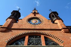 Poland - Gdansk. City (also know nas Danzig) in Pomerania region. Famous old market hall Royalty Free Stock Photo