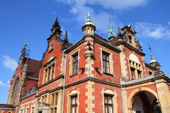 Poland - Gdansk. City (also know nas Danzig) in Pomerania region. Railway station Stock Image