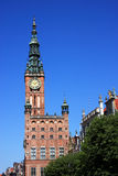 Poland Gdansk City hall. Poland Gdansk historic centre, City Hall, built in red brick - Gdansk is a venues of UEFA Euro 2012 Stock Photography
