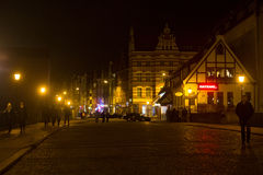 POLAND, GDANSK - DECEMBER 12, 2014: Historic buildings in the old part of the city. Stock Images