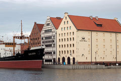 POLAND, GDANSK - DECEMBER 21, 2013: View of the historic buildings of the island Olowianka. Royalty Free Stock Images