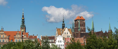 Poland Gdansk. Old buildings summer Stock Photography