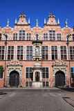 Poland Gdansk Old town - Old Arsenal. Poland Gdansk Elaborate Hanseatic architecture, Old Arsenal in the historic centre - Gdansk is a venues of UEFA Euro 2012 Royalty Free Stock Photography