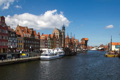 Poland, Gdansk - Quay of the Old Town Stock Photo