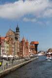 Poland, Gdansk - Quay of the Old Town Royalty Free Stock Photo