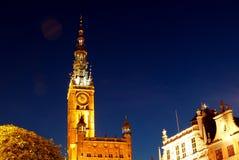 Poland Gdansk. Poland -  Gdansk tower at night Royalty Free Stock Photo