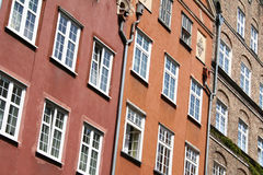 Poland. Gdansk. Walls of old houses Stock Image