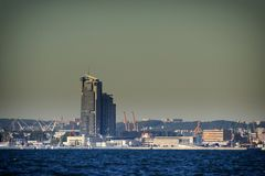 Poland, Gdynia marine town at evening Royalty Free Stock Image