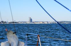 Poland, Gdynia marine town view from yacht Stock Photos