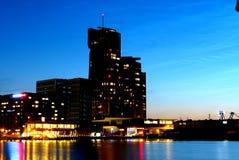 Poland - Gdynia Sea Towers at night Stock Photos