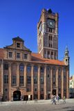 Old Town Main Market Square market and City Hall in Torun, Poland Stock Images