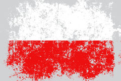 Poland grunge, old, scratched style flag Stock Image