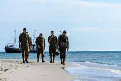 Poland, Hel, August 2015. Reconstruction of d-day Stock Photography