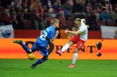 Poland - Iceland Friendly Game Stock Photo