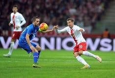 Poland - Iceland Friendly Game Stock Image