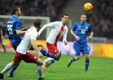 Poland - Iceland Friendly Game Royalty Free Stock Image