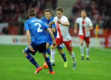 Poland - Iceland Friendly Game Stock Images